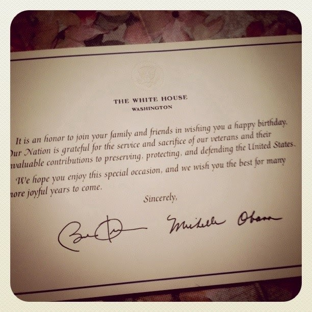 From Aura Birthday Card From President Obama