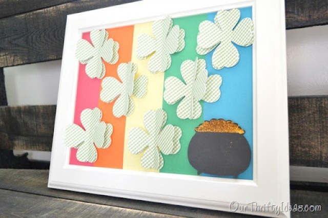 Our Thrifty Ideas | St. Patrick's Day specimen art made with a #cricut mini