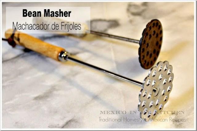 bean masher, machacador de frijoles