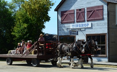 wagon rides are part of the $20. two day admission fee.  We just paid 5 bucks each no extras.