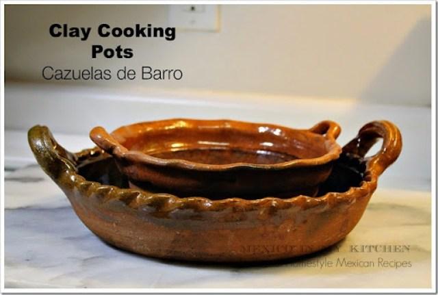 clay cooking pots cazuelas de barro