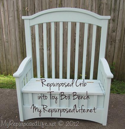upcycled crib toy box