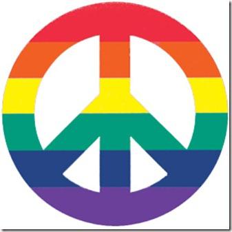 Rainbow flags gay lesbian glbt Peace Signs (2949)