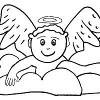 DIBUJOS INFANTILES DE ANGELES PARA COLOREAR Y DECORAR