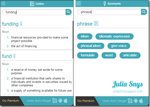 Julia says: 英文救星駕到! 請 Grammarly 和 Ginger 替你檢查拼字,文法,標點符號,寫信,寫論文和老外線上溝通不出糗