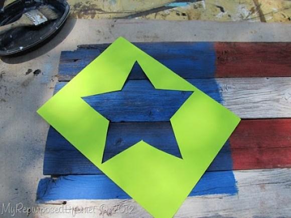 Americana Flag (Repurposed Fence) (19)