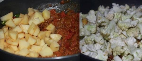 Cauliflower Potato Fry step3