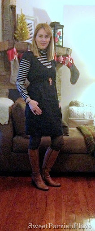 black dress grey tights brown boots2