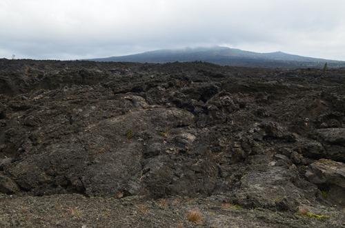 Mackenzie Pass historic road Belknap Crater in the distance