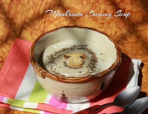 Mushroom Creamy Soup1