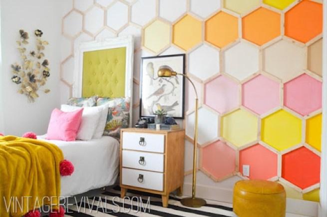 Honeycomb Hexagon Wall @ Vintage Revivals-2