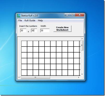 Sketsa Kufi grid