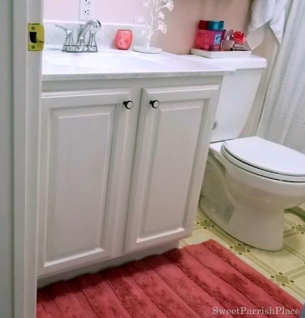 Painted Oak bathroom cabinet