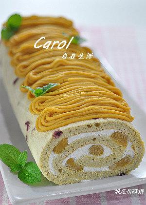 Carol 自在生活 : 地瓜蛋糕捲