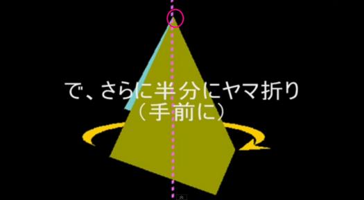 手ぬぐいのたたみ方(一例) : How to fold the tenugui - YouTube3.png