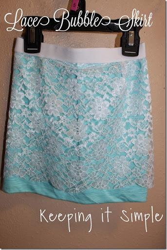 lace bubble skirt