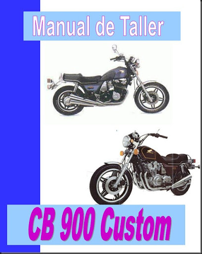 manual de taller cb 900 custom
