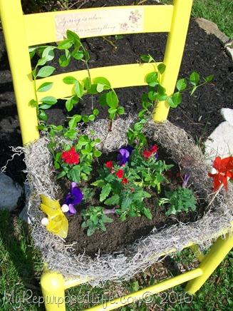 repurposed garden chair