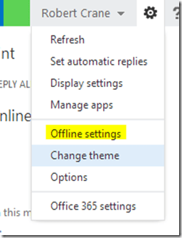 Outlook Web App browser offline settings – CIAOPS
