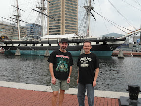 Dennis and I, he is the one without a cool t-shirt.