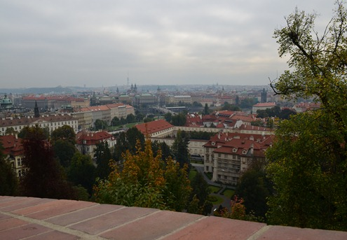 view of Prague looking east from Castle Hill