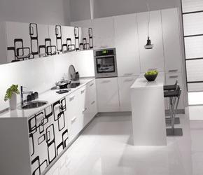 Cocinas de diseño muebles blancos modernos