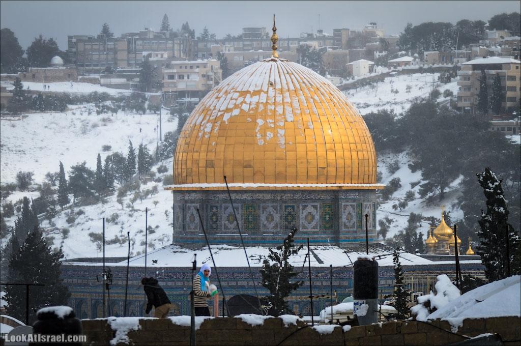 Снег в Иерусалиме. LookAtIsrael.com - Фото путешествия по Израилю