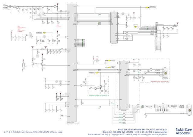 Nokia 206 Service Schematics