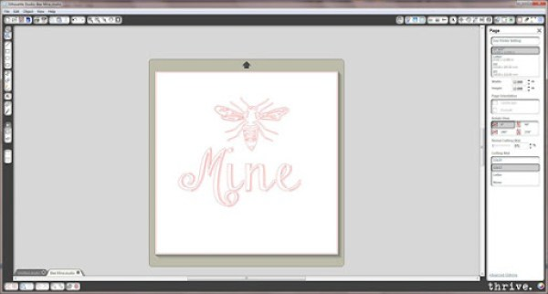 """Free """"Bee Mine"""" Silhouette cutting file available by emailing choosetothriveblog@gmail.com"""