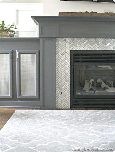 fireplace surround from thrifty decor chick