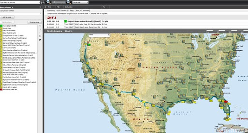 Florida 2014 map streets and trips