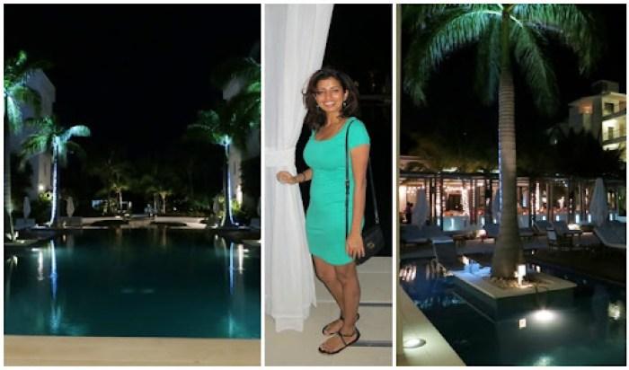 pool nighttime