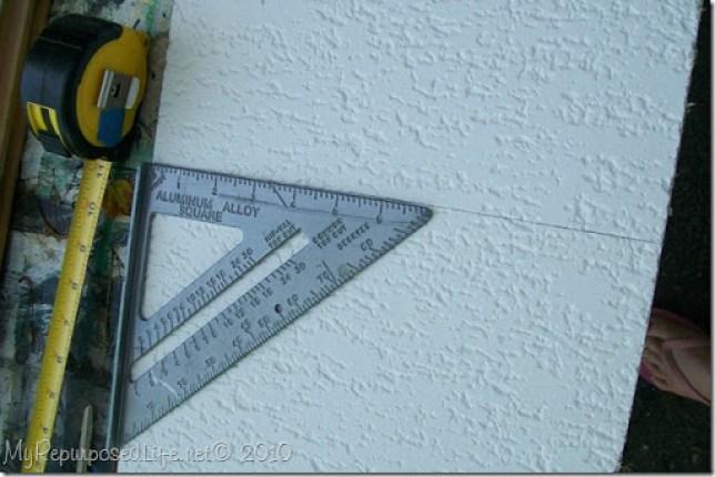 repurposed ceiling tile