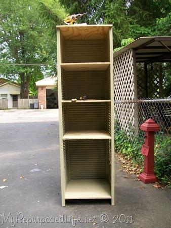 repurposed shutter (cupboard)