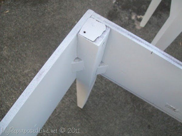 base of sewing machine cabinet