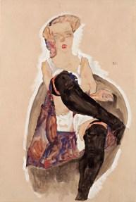 Acuarela de Egon Schiele Aquarell Watercolor