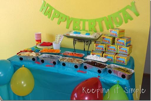 train boy birthday party