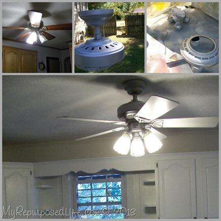 My Repurposed Life-Update Kitchen Ceiling Fan with Spray Paint