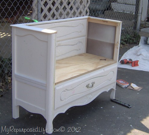 Old Dresser Into Bench