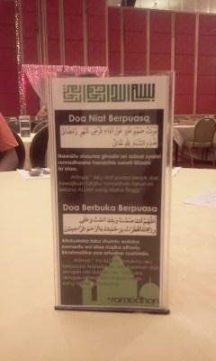 Buffet ramadhan di de palma hotel - doa buka puasa
