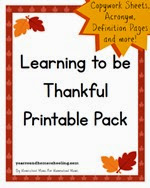 Year Round Homeschooling - Thankful Pack