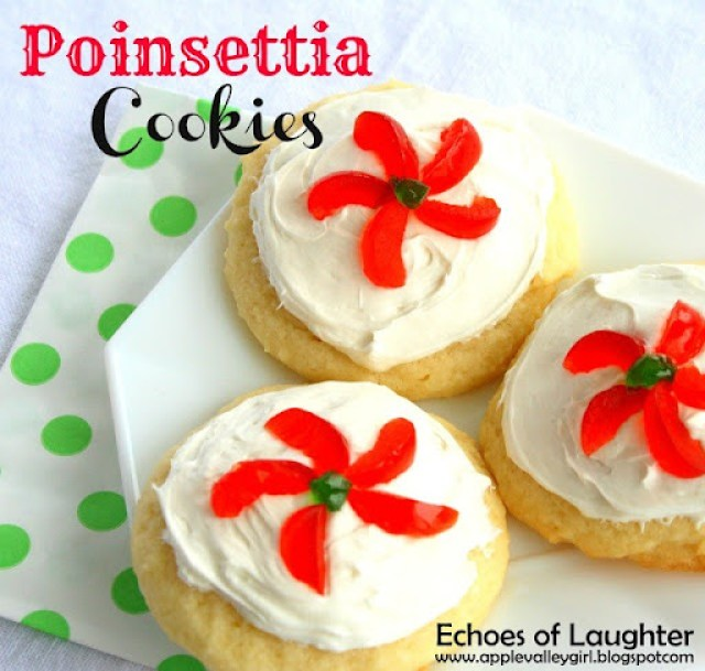 Poinsettia Cookies by Echoes of Laughter