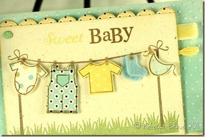 lemon aqua PTI blog hop baby card closeup (2)