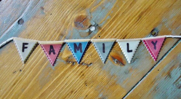 Family Names Framed Print Bunting