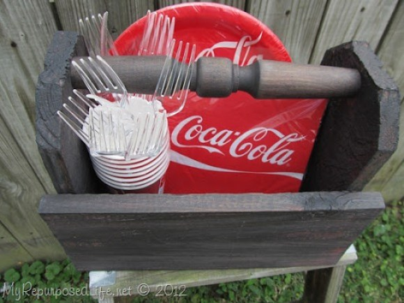 rustic caddy barbecue