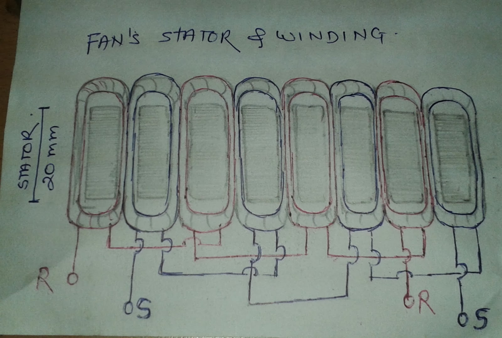 Desk Fan Wiring Diagram