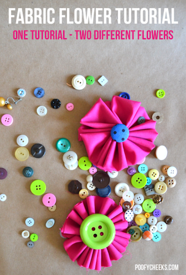 How to Make Fabric Flowers - One Tutorial for Two Flowers