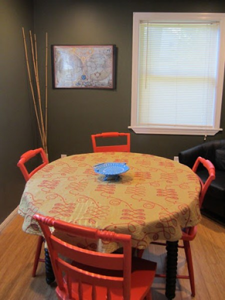 Dining room painted Posh (green) by C2 Paints