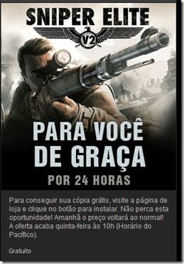 Sniper Elite V2: Gratuito na Steam promoção limitada