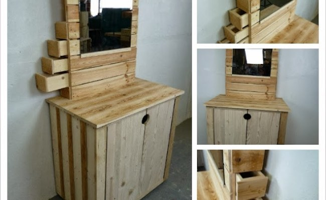 Meja Rias Drawer Faris Wooden Pinewood